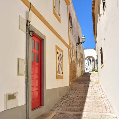 Albufeira historic old town