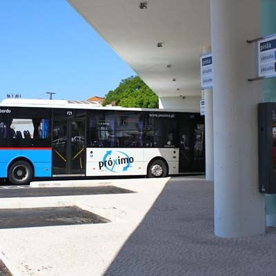 The number 16 bus in the Proximo bus station