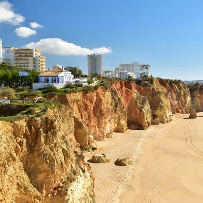 Praia Da Rocha Sandstone Cliffs Portugal