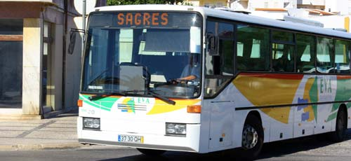 Lagos to Sagres bus
